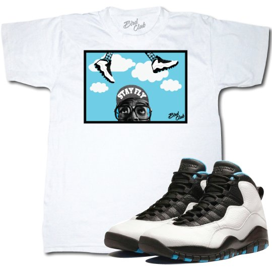 Air Jordan Retro 10 Powder blue shirt