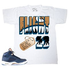 "AIR JORDAN 5 ""OBSIDIAN/BRONZE"" FLIGHT FLIGHTER TEE"