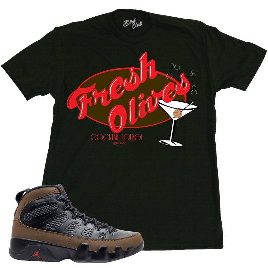 AIR JORDAN 9 OLIVES SHIRT