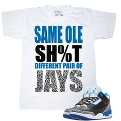 AIR JORDAN 3 SPORT BLUE SHIRT