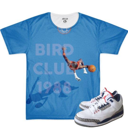 TRUE BLUE 3 MATCHING T-shirt (100% polyester)