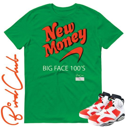 "New Money shirt to match Air Jordan 6 ""Gatorade"""