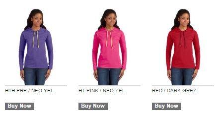 f63f8da73146 887L Anvil Ladies' Lightweight Long-Sleeve Hooded T-Shirt   Tee ...