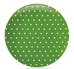 kate spade new york® SALUT! Green Cream Dots Melamine Salad Plate