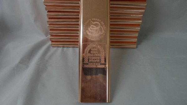 Kilo Dont Tread On Me 99.9% Pure Copper Bullion Bar
