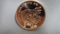1 Ounce Angry Alligator 99.9% Pure Copper Bullion Round