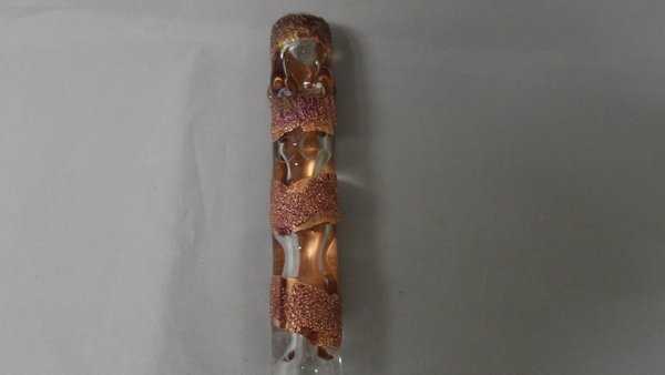 Gold Purple Shooter Copper Infused High End Art Glass Pipe