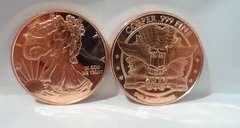 1OZ Walking Liberty .999 Fine Copper Bullion Round