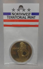 Heads OR Tails Female Merlin Gold Encapsuled 39MM Challenger Coin