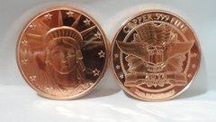 1OZ Statue Of Liberty .999 Fine Copper Bullion Round