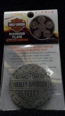 Harley Davidson Armed Forces 44MM Nickel Antique Challenger Coin