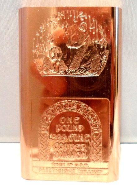1 Pound Panda 99.9% Pure Copper Bullion Bar