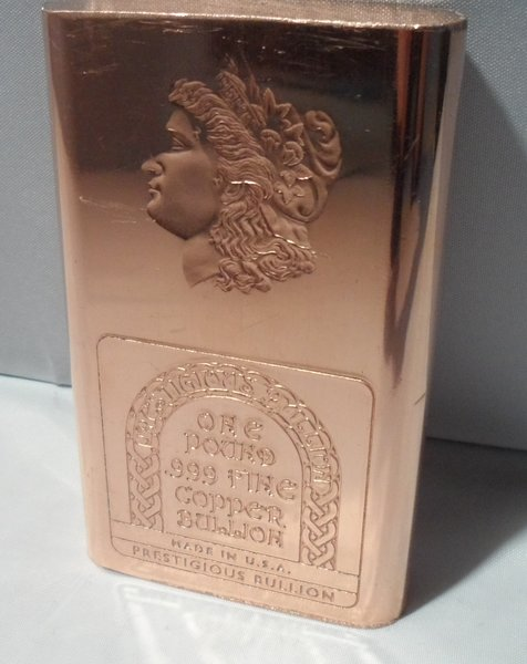 1 Pound Morgan 99.9% Pure Copper Bullion Bar