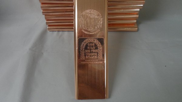 Kilo 2nd Amendment 99.9% Pure Copper Bullion Bar