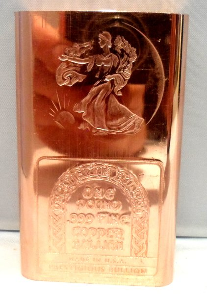 1 Pound Walking Liberty 99.9% Pure Copper Bullion Bar