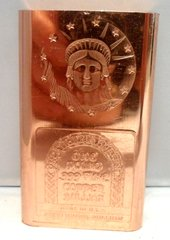1 Pound Statue of Liberty 99.9% Pure Copper Bullion Bar