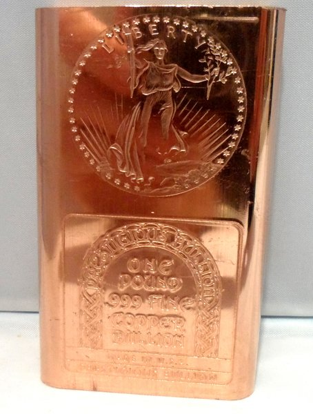 1 Pound Saint Gaudens 99.9% Pure Copper Bullion Bar