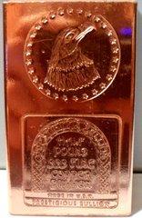Half Pound Eagle Star 99.9% Pure Copper Bullion Bar