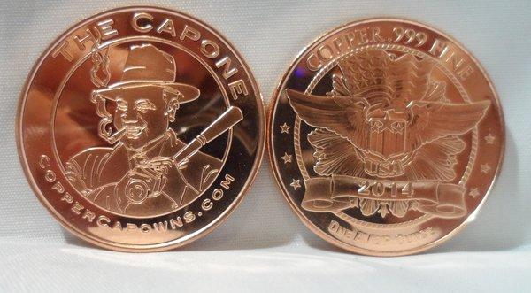 1OZ Al Capone .999 Fine Copper Bullion Round
