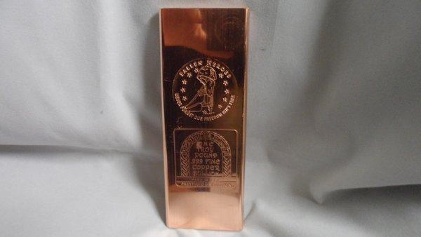 Troy Pound Military Fallen Heros 99.9% Pure Copper Bullion Bar