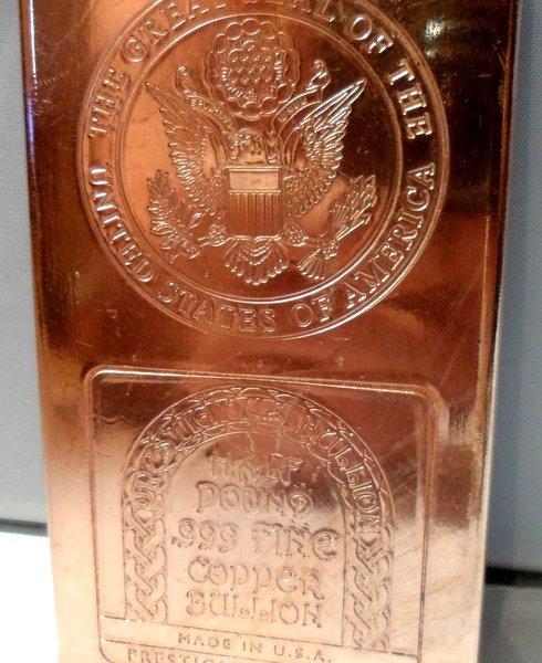 Half Pound Great Seal 99.9% Pure Copper Bullion Bar