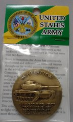 General Patton M-60 Engravable Army Bronze Antique 44MM Challenger Coin