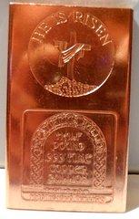 Half Pound He Is Risen 99.9% Pure Copper Bullion Bar
