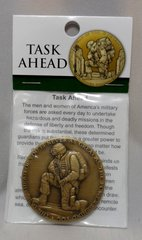 The Task Ahead Military Bronze Antique 44MM Challenger Coin