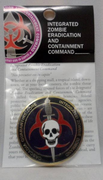 Cascadia Quarantine Zone First Responders Bronze w/Enamel 44MM Coin