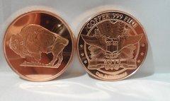 1OZ Buffalo .999 Fine Copper Bullion Round