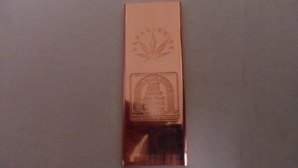Troy Pound Legalize It 99.9% Pure Copper Bullion Bar