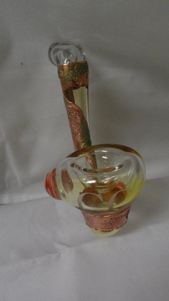 Copper Capowns High End Copper Infused Sherlock Glass Art Pipe