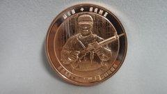 1 Ounce Men + Arms 99.9% Pure Copper Bullion Round