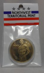 Heads OR Tails Male Merlin Gold Encapsuled 39MM Challenger Coin