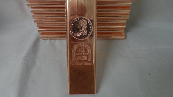 Kilo Capped Bust 99.9% Pure Copper Bullion Bar