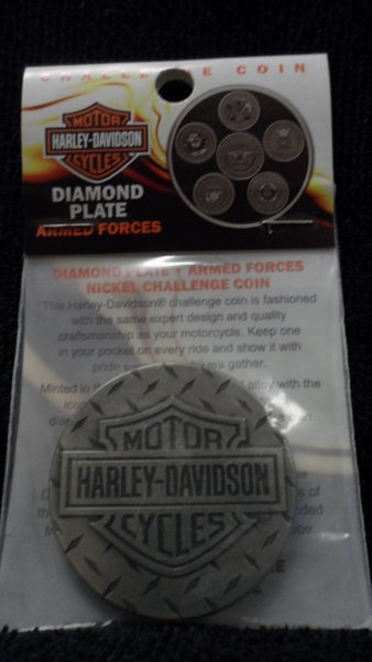 Harley Davidson Armed Forces 44MM Nickel Antique Challenger Coin