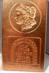 Half Pound Morgan 99.9% Pure Copper Bullion Bar