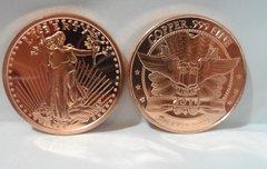 1OZ Saint Gaudens .999 Fine Copper Bullion Round