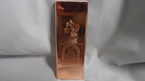 Troy Pound Morgan 99.9% Pure Copper Bullion Bar