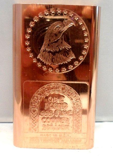 1 Pound Eagle Star 99.9% Pure Copper Bullion Bar