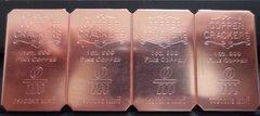 4 X 1OZ (4OZ) Copper Cracker 99.9% Pure Copper Bullion Art Bar Ingot