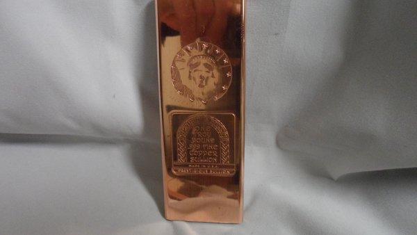 Troy Pound Statue Of Liberty 99.9% Pure Copper Bullion Bar