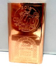 1 Pound 2012 Year Of The Dragon 99.9% Pure Copper Bullion Bar