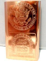 1 Pound Great Seal 99.9% Pure Copper Bullion Bar
