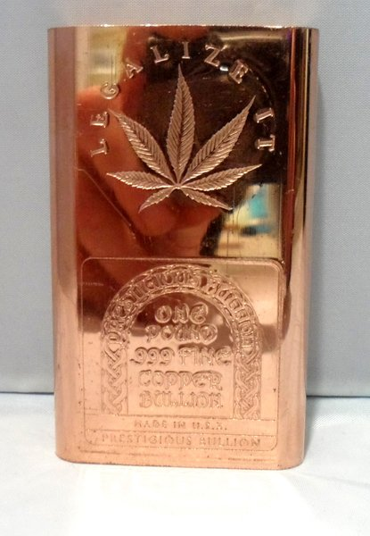 1 Pound Legalize It 99.9% Pure Copper Bullion Bar