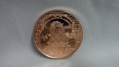 1 Ounce $5 Indian Chief 99.9% Pure Copper Bullion Round