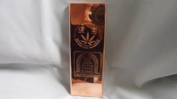 Troy Pound LegalizeD It 99.9% Pure Copper Bullion Bar