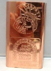 1 Pound 2D Liberty 99.9% Pure Copper Bullion Bar