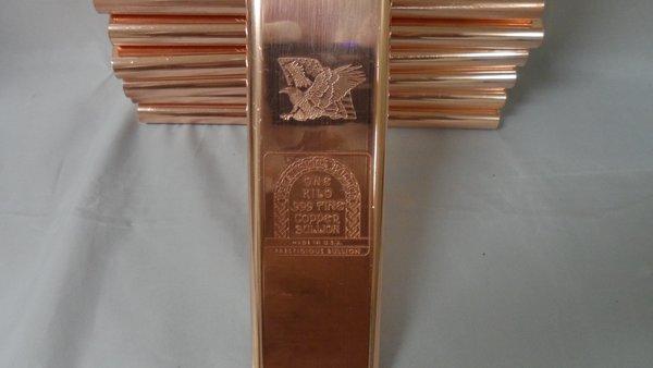 Kilo Eagle Flag 99.9% Pure Copper Bullion Bar