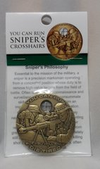 Sniper Crosshairs Bronze Antique 44MM Challenger Coin